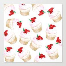 Classic Cupcakes pattern Canvas Print
