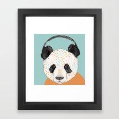 Polkadot Panda Framed Art Print