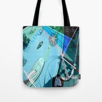 sailing Tote Bags featuring Sailing by Robin Curtiss