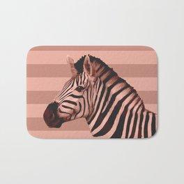 [Animals & Stripes] Peach zebra Bath Mat