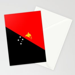 Papua New Guinea country flag Stationery Cards