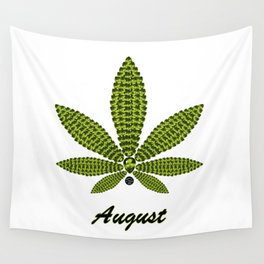 Birthstoned Leaf of Month, August Peridot Wall Tapestry