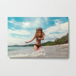 Ocean Air, Salty Hair Metal Print