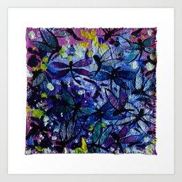 Dragonflies by annmariescreations Art Print