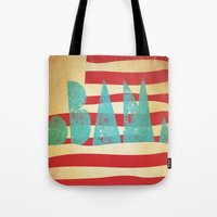 obama Tote Bags featuring oBAMa by Josh Franke