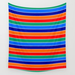 saint petersburg city flag stripes Wall Tapestry