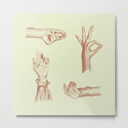Gestures Metal Print