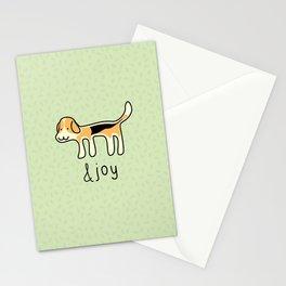 Cute Beagle Dog &joy Doodle Stationery Cards