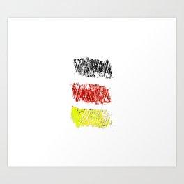 flag of germany II Art Print