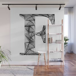''City Collection'' - Minimal Letter F Print Wall Mural