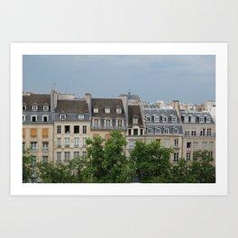 Houses in Paris  Art Print