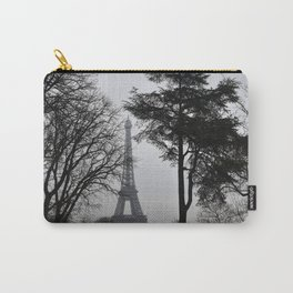 Winter Trees Eiffel Tower Paris France Carry-All Pouch