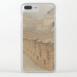 Pathway of the Great Wall of China Clear iPhone Case