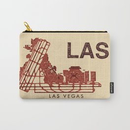LAS Airport Map + text Carry-All Pouch