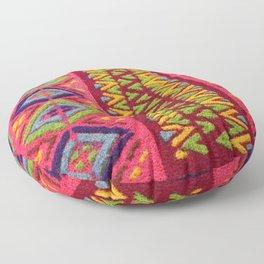 Colorful Guatemalan Alfombra Floor Pillow