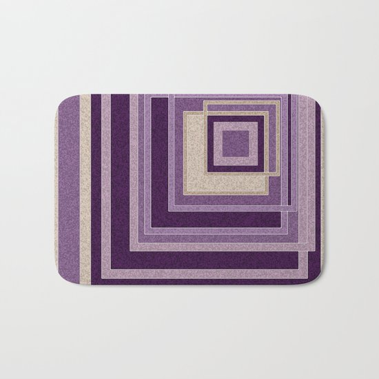 Abstract painting in purple and brown tones . Bath Mat