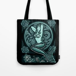 Blue Mermaid - Monochrome Tote Bag