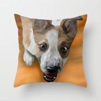 finn Throw Pillows featuring Finn by Nojjesz