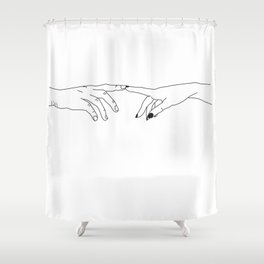 Hands - magic touch Shower Curtain