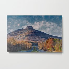 Pilot Mountain Metal Print