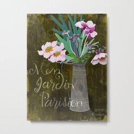 Mon Jardin Parisien Metal Print