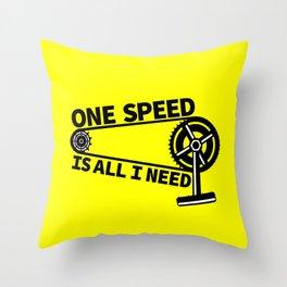 Single Speed Bike Throw Pillow