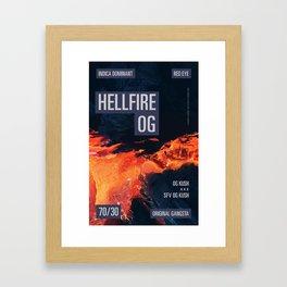 HELLFIRE OG Framed Art Print