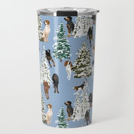 Coonhound Forest Blue Travel Mug
