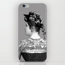 Tattooed Victorian Woman iPhone Skin
