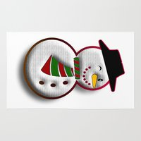 snowman Area & Throw Rugs featuring Snowman by Gaspar Avila