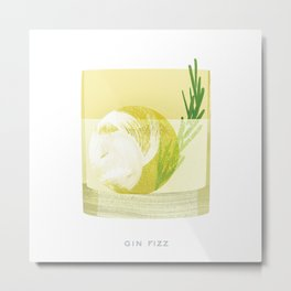 Cocktail Hour: Gin Fizz Metal Print