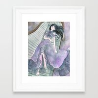 doll Framed Art Prints featuring doll by acca