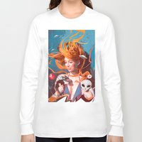 gravity Long Sleeve T-shirts featuring GRAVITY by Javier G. Pacheco