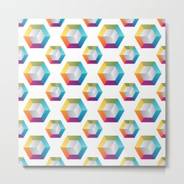 Voxels - Creative Crypto Pattern Art (Large) Metal Print