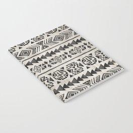 Boho Tribal Black & Cream, Geometric Print, Ink Tribal Decor Notebook