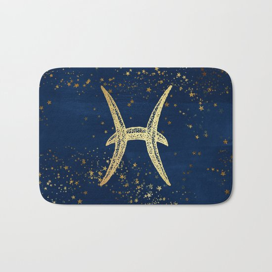 Pisces Zodiac Sign Bath Mat