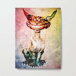 BEWARE THE CHESHIRE CAT GRIN Metal Print