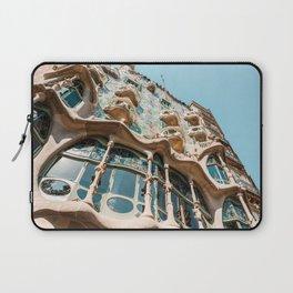 Antoni Gaudi Architecture, Casa Batllo Barcelona, City Facade, Spain Summer Travel Laptop Sleeve