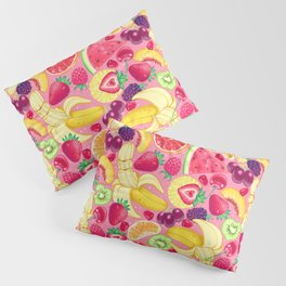 Fruit Cocktail on Pink Pillow Sham