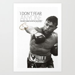 Saul Canelo Alvarez quote photo print poster - Pre Signed  Art Print