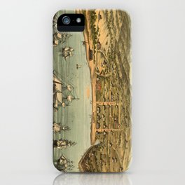 Vintage Pictorial Map of San Francisco (1884)  iPhone Case
