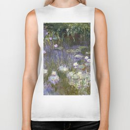 Water Lilies 1922 by Claude Monet Biker Tank