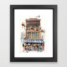 Chinatown Shophouse, Singapore Framed Art Print