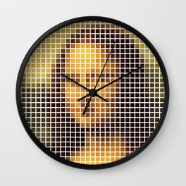 Mona Lisa Deconstructed Wall Clock