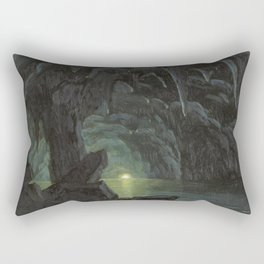Albert Bierstadt - The Blue Grotto, Capri Rectangular Pillow
