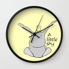 A little shy Wall Clock