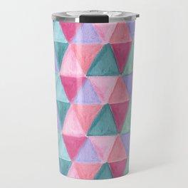 pastel triangle pattern Travel Mug