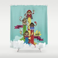 street fighter Shower Curtains featuring Street Fighter 25th Anniversary!!! by Ed Warner