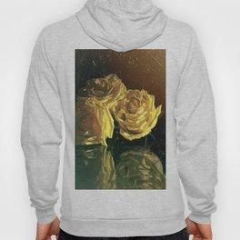 Yellow Vintage Roses Hoody