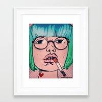 smoke Framed Art Prints featuring Smoke by Danielle Feigenbaum